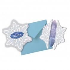 Cartons invitations La Reine des Neiges (Frozen) x6