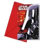Cartons invitations Star Wars (x6)