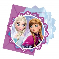 Invitations : La Reine des Neiges (Frozen) x6