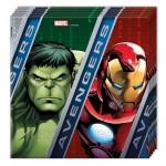 Serviettes en papier Avengers : 20 serviettes de fête