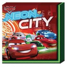 Serviettes en papier Cars Néon x20