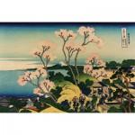 Puzzle d'art en bois 500 pièces : Hokusai : Goten Hill