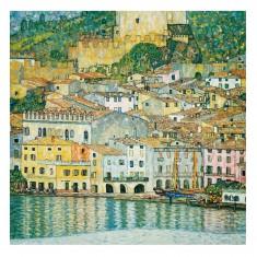 Puzzle d'art en bois 750 pièces Michèle Wilson - Klimt: Le lac de garde
