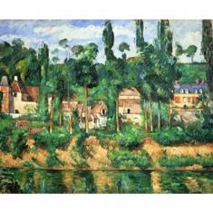 Puzzle d'art en bois 250 pièces Michèle Wilson - Cézanne : Le château de Médan