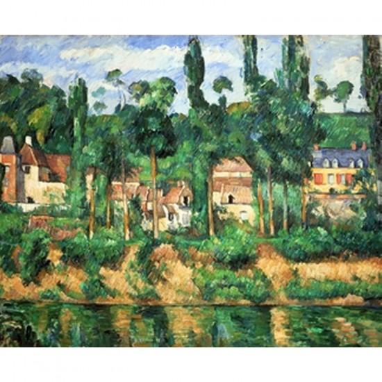 Puzzle d'art en bois 250 pièces Michèle Wilson - Cézanne : Le château de Médan - PMW-A210-250