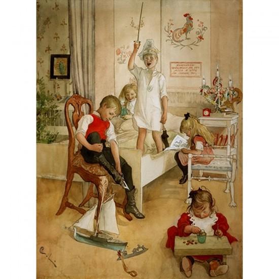 Puzzle d'art en bois 250 pièces Michèle Wilson - Larsson : Le jour de Noël - PMW-A209-250