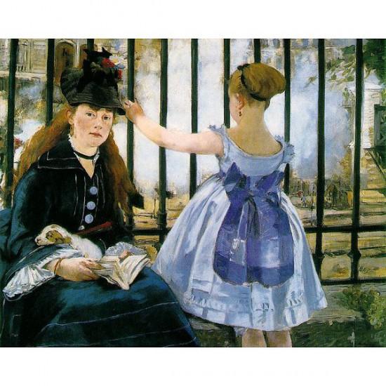 Puzzle d'art en bois 250 pièces Michèle Wilson - Manet : Le chemin de fer - PMW-A133-250