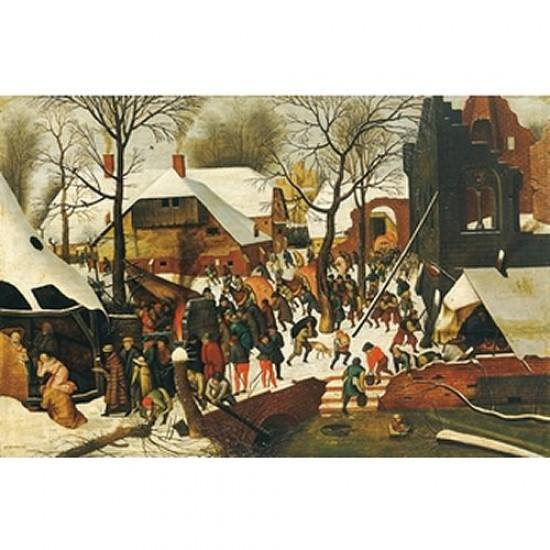 Puzzle d'art en bois 300 pièces Michèle Wilson - Grosses Pièces - Brueghel : L'adoration des mages - PMW-H107-300