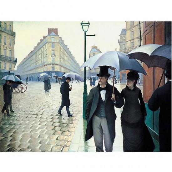 Puzzle d'art en bois 650 pièces Michèle Wilson - Caillebotte : Rue de Paris, temps de pluie - PMW-A134-650