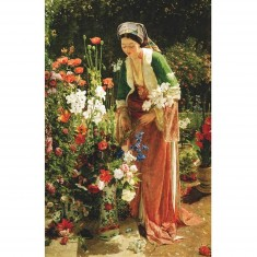 Puzzle d'art en bois 80 pièces Michèle Wilson - Lewis : Dans le jardin