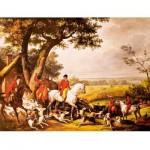 Puzzle d'art en bois 1000 pièces Michèle Wilson : Carle Vernet : La chasse à Fontainebleau