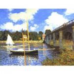 Puzzle d'art en bois 1000 pièces Michèle Wilson : Monet : Le Pont d'Argenteuil