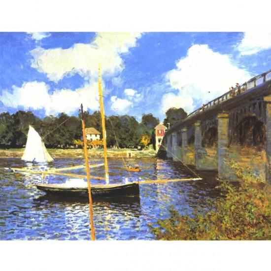 Puzzle d'art en bois 1000 pièces Michèle Wilson : Monet : Le Pont d'Argenteuil - PMW-A246-1000