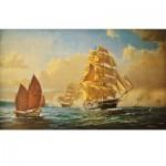Puzzle d'art en bois 1000 pièces Michèle Wilson : Sir Francis Smitheman : Le Cutty Sark