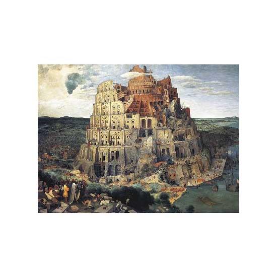 Puzzle d'art en bois 1000 pièces Michèle Wilson  - Brueghel : La Tour de Babel - PMW-A516-1000