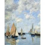 Puzzle d'art en bois 1000 pièces Michèle Wilson - Eugène Boudin :  La jetée à marée haute