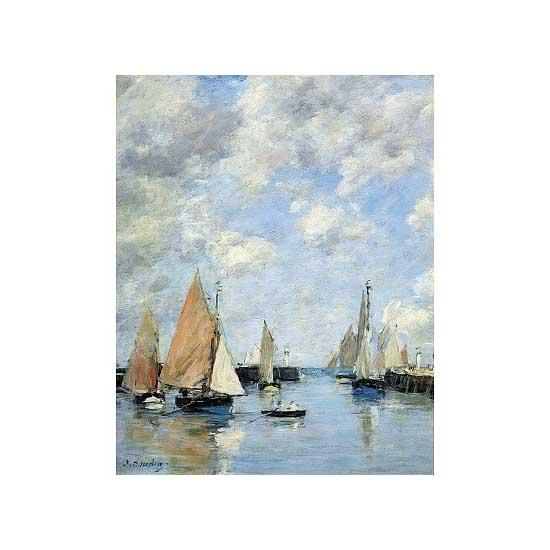 Puzzle d'art en bois 1000 pièces Michèle Wilson - Eugène Boudin :  La jetée à marée haute - PMW-A506-1000