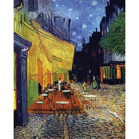 Puzzle d'art en bois 1000 pièces Michèle Wilson - Van Gogh : Le café le soir - PMW-C36-1000