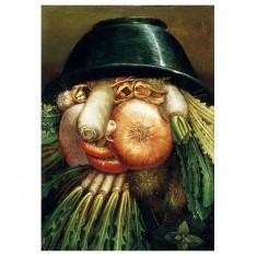 Puzzle d'art en bois 12 pièces Michèle Wilson - Arcimboldo : L'homme potager