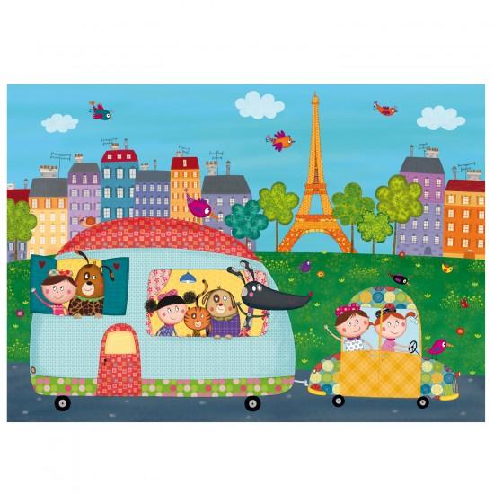 Puzzle d'art en bois 12 pièces Michèle Wilson - Bittler : Bonjour Paris - PMW-W400-12