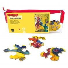 Puzzle d'art en bois 12 pièces Michèle Wilson - Chagall : La danse