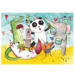 Puzzle d'art en bois 12 pièces Michèle Wilson - Georger : Le concert des animaux