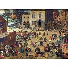 Puzzle d'art en bois 1200 pièces Michèle Wilson - Brueghel  :  Jeux d'enfant