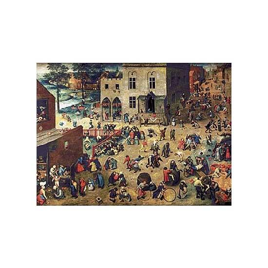 Puzzle d'art en bois 1200 pièces Michèle Wilson - Brueghel  :  Jeux d'enfant - PMW-A904-1200