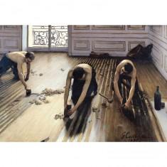 Puzzle d'art en bois 150 pièces : Les raboteurs de parquet