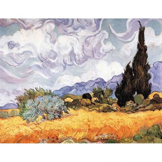 Puzzle d'art en bois 150 pièces : Van Gogh : Les Blés Jaunes - PMW-A723-150