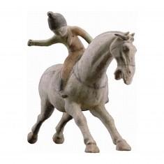 Puzzle d'art en bois 150 pièces Michèle Wilson - Art Chinois : La joueuse de Polo