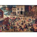 Puzzle d'art en bois 150 pièces Michèle Wilson - Brueghel : Jeux d'enfant
