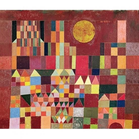Puzzle d'art en bois 150 pièces Michèle Wilson  - Klee : Château et soleil - PMW-A101-150