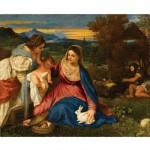 Puzzle d'art en bois 150 pièces Michèle Wilson - Titien : La vierge au lapin