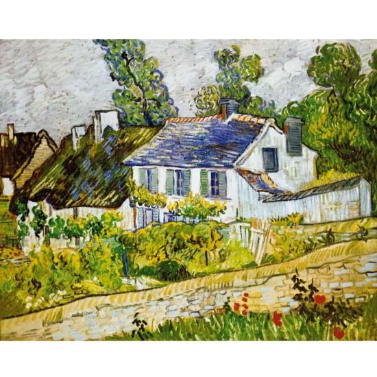 Puzzle d'art en bois 1500 pièces Michèle Wilson : Van Gogh : Maison à Auvers - PMW-A218-1500