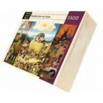 Puzzle d'art en bois 1500 pièces Michèle Wilson - Bosch : La charrette de foin