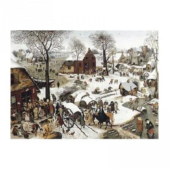 Puzzle d'art en bois 1500 pièces Michèle Wilson - Brueghel  :  Le dénombrement de Bethléem - PMW-C58-1500