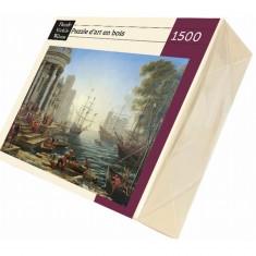 Puzzle d'art en bois 1500 pièces Michèle Wilson - Le Lorrain : La charrette de foin