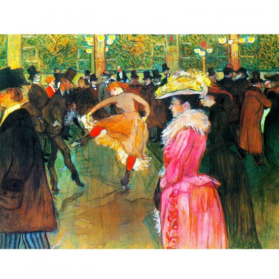 Puzzle d'art en bois 200 pièces Michèle Wilson : Toulouse-Lautrec : Bal au Moulin Rouge - PMW-H384-200