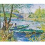 Puzzle d'art en bois 200 pièces Michèle Wilson : Van Gogh : La pêche au printemps
