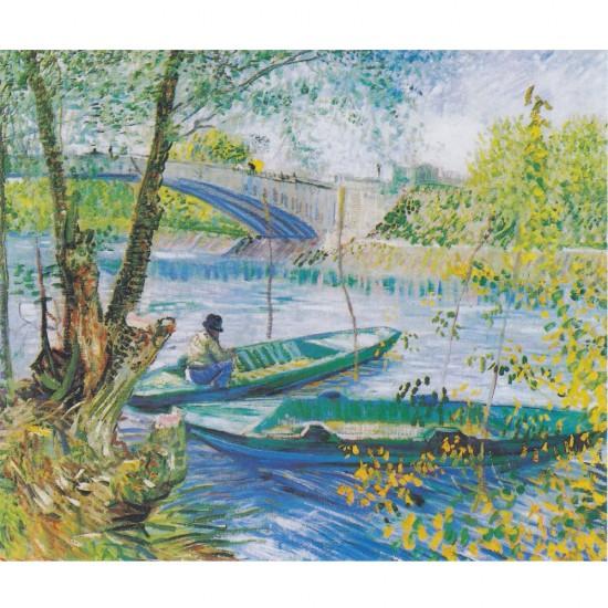 Puzzle d'art en bois 200 pièces Michèle Wilson : Van Gogh : La pêche au printemps - PMW-H327-200