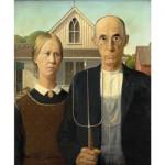 Puzzle d'art en bois 250 pièces Michèle Wilson : Grant Wood : American Gothic