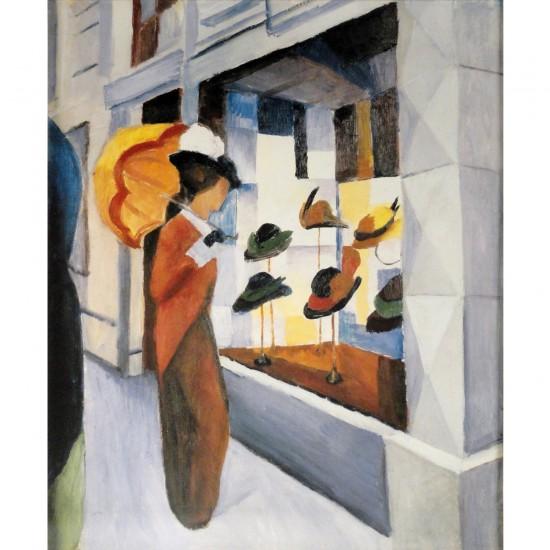 Puzzle d'art en bois 250 pièces Michèle Wilson : Macke : La chapellerie - PMW-A143-250