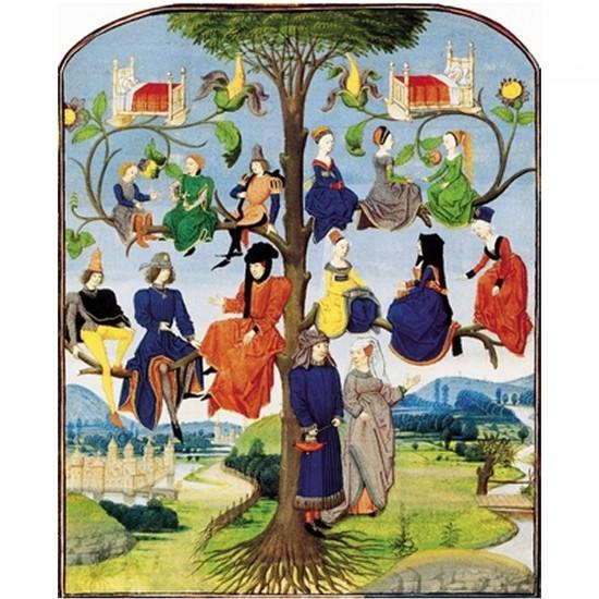 Puzzle d'art en bois 250 pièces Michèle Wilson - Arbre généalogique médiéval - PMW-A203-250
