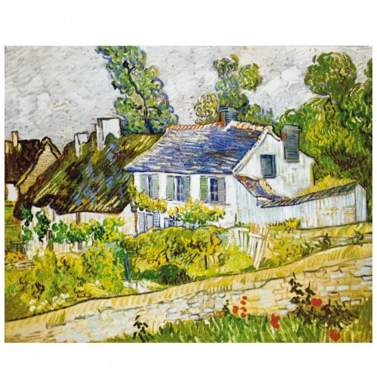 Puzzle d'art en bois 250 pièces Michèle Wilson - Van Gogh : Maison à Auvers - PMW-H218-300