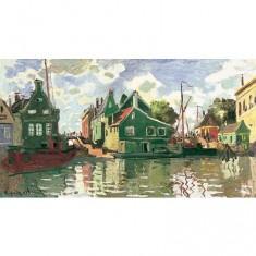 Puzzle d'art en bois 2500 pièces Michèle Wilson - Monet : Canal à Zaadam