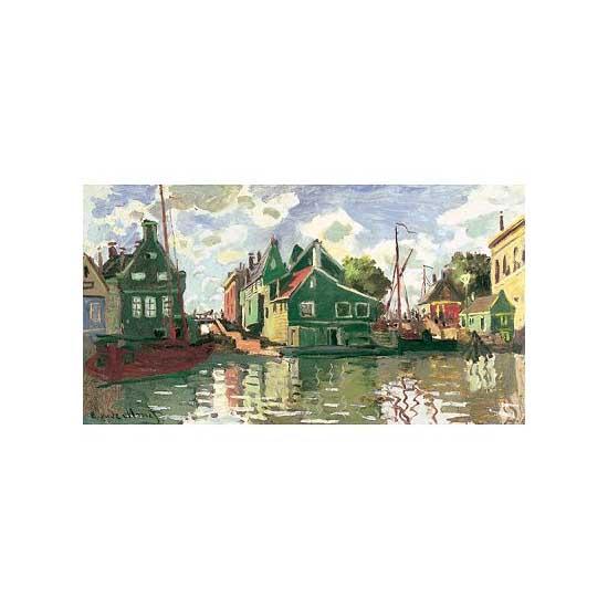 Puzzle d'art en bois 2500 pièces Michèle Wilson - Monet : Canal à Zaadam - PMW-A121-2500