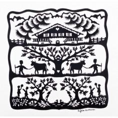 Puzzle d'art en bois 30 pièces Michèle Wilson : Alpage
