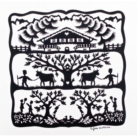 Puzzle d'art en bois 30 pièces Michèle Wilson : Alpage - PMW-Z29