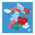 Puzzle d'art en bois 30 pièces Michèle Wilson : Carte des régions